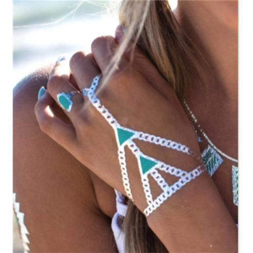 стильный флэш временные татуировки мода верхней части спины шеи браслет ювелирных изделий arrow газа
