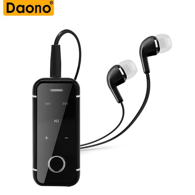 Daono I6s Bluetooth Earphone Wireless Handsfree Earbuds Headset With Microphone Calls Voice Remind Wear Clip Drive Clip Earphone Headphones Bluetooth Earphones
