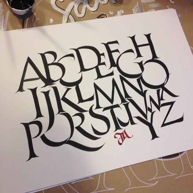 Beste afbeeldingen over calligraphy samplers op