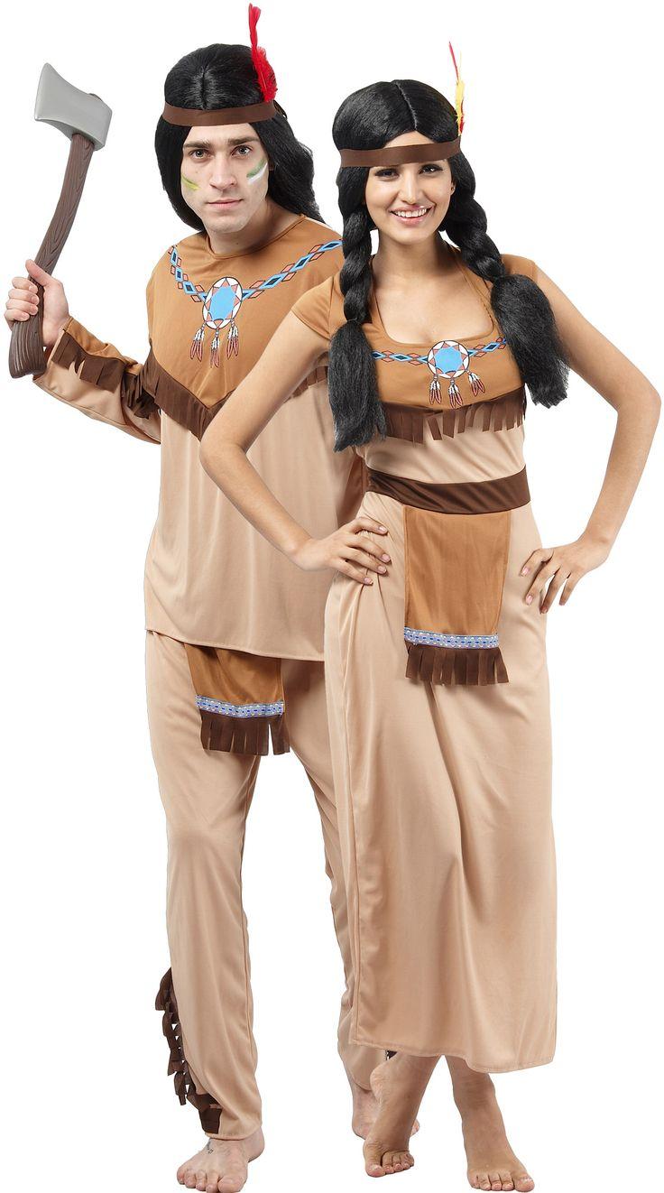 Disfraz de pareja de indios para adultos Disponible en…