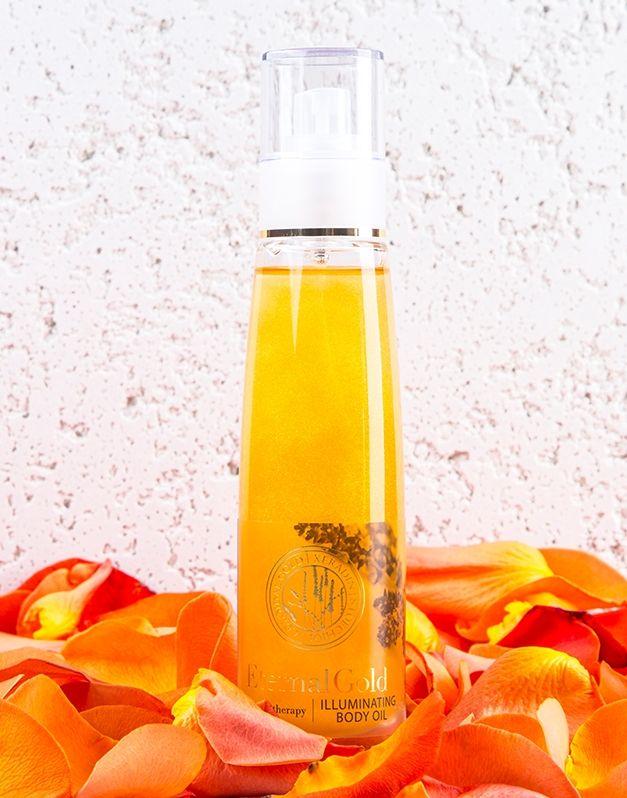 Rozświetlający suchy olejek do ciała - Eternal Gold - ORGANIQUE