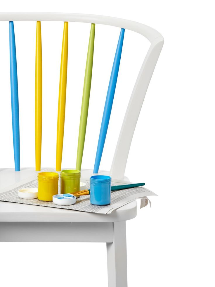 With just a little bit of leftover paint (even a sample size will do!) adorn a dining chair's spindles with a rainbow of bright colors. Get the full instructions from HGTV Magazine.