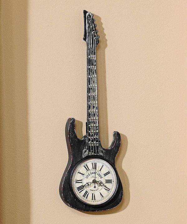 Electric Guitar Wall Clock Clock Wall Clocks And Look At