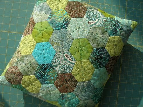 English Paper Piecing | by the workroom.  I like the quilting and the colors