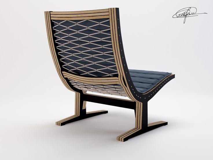 Cadeira de descanso e ottoman Brisée / Emiliano Godoy