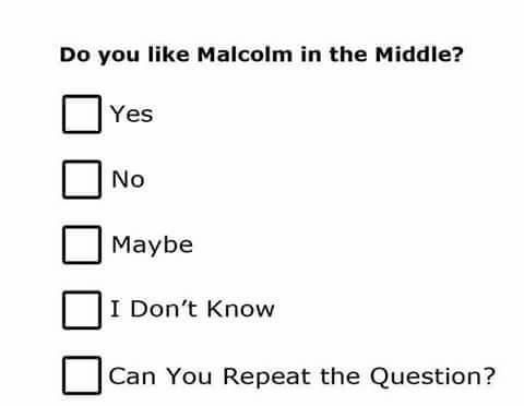 Do you like Malcolm in the Middle? http://ift.tt/2ixFyE3