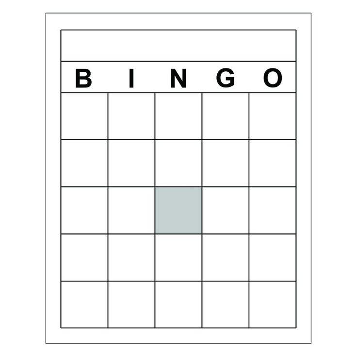 Make Your Own Bingo Card: Blank Bingo Cards, Bingo Cards