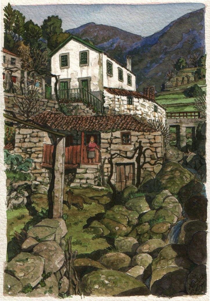 houses and rocks