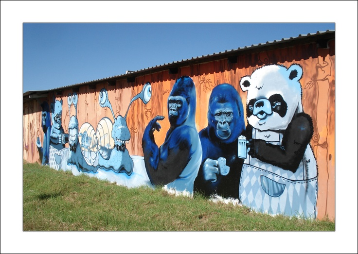Cape Town Graffiti: Animals going crazy... I love this one, see it everyday on the M5