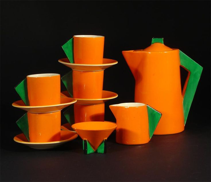 Clarice Cliff Bizarre Conical coffee set
