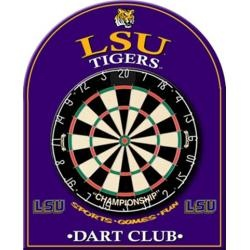 LSU Tigers Louisiana State Dart Board Back Game Room Equipment