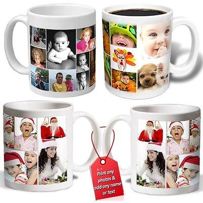 Collage #personalised photo mug cup add name love #christmas gift #valentines tea, View more on the LINK: http://www.zeppy.io/product/gb/2/252272566399/