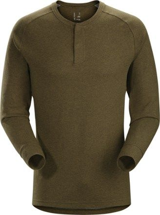Arc'teryx Men's Sirrus Henley Shirt Dark Moss Heather XXL