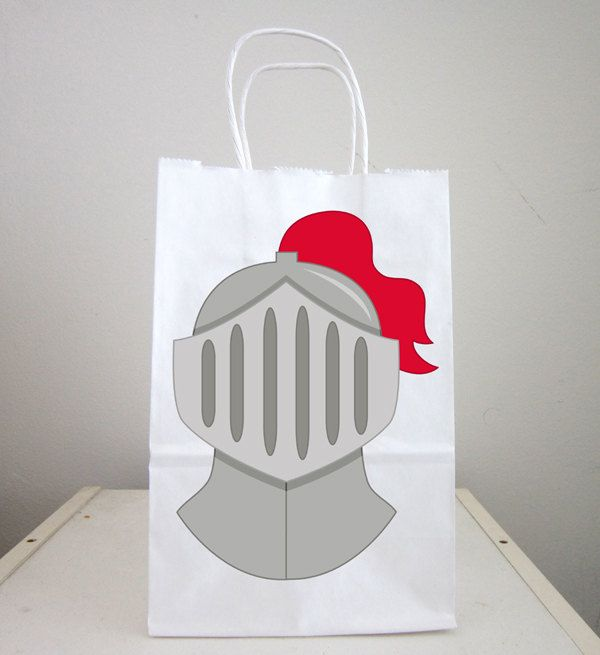 Knight Goody Bags, Knight and Shining Armor Bags, Knight Helmet Bags by CraftyCue on Etsy