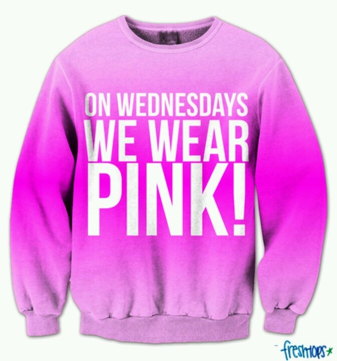 So cute! -from fresh tops  - actually it's not just on Wednesdays that we wear pink!