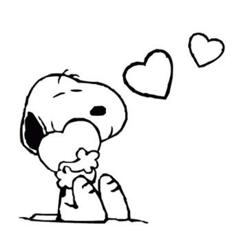 Snoopy Valentines Day Coloring Page