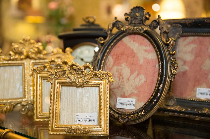 Traditional black and gold photo frames #penroseinteriors #interiordesign #home #furniture upholstery #fabric #wallpaper #trimmings #paint #sofas #chairs #accessories #lighting #pictures #mirrors #cushions #gifts #Bakewell #Chatsworth #Derbyshire www.penroseinteriors.co.uk