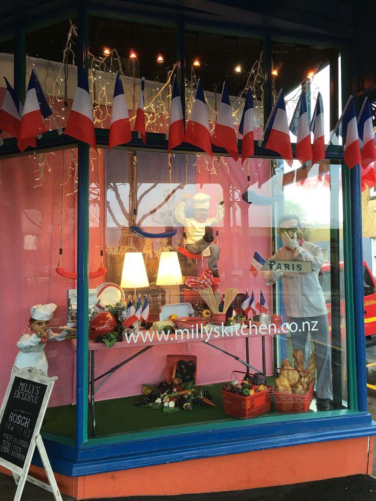 "MILLY'S COOKSHOP, Ponsonby, Auckland, New Zealand, ""Paris Cuisine... Bon Appetite"", created by Ton van der Veer"