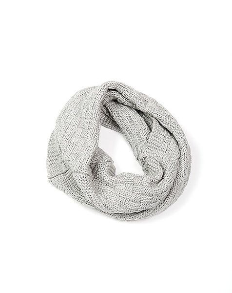 Indus Hand Knit Infinity Scarf Grey | Krinkle Gifts