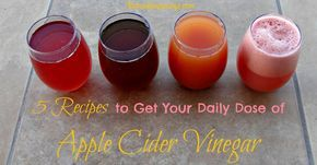 Taking apple cider vinegar for health can be a challenge. We have created 5 apple cider vinegar recipes to help you learn to love drinking it.