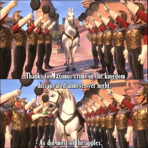TV Quotes: Tangled - Quote - Apples dissapearing