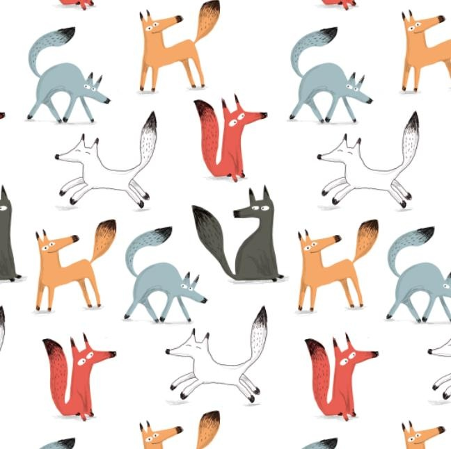 kids • illustration • children • book • art • drawing • fox • cute • pattern •