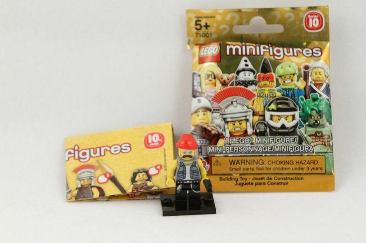 2013 LEGO Minifigure Series 10 71001 Motorcycle Biker Mechanic Figure 16