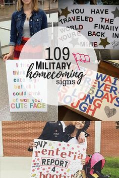 109 Amazing Military Homecoming Signs. This is perfect inspiration for military spouses welcoming home a service member from a military deployment.