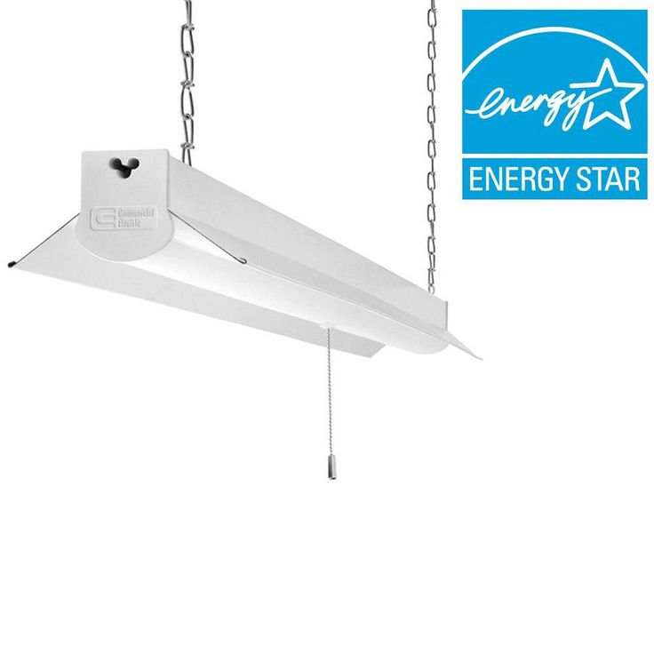 Bright Cool White Integrated LED Linkable Shop Light Fixture