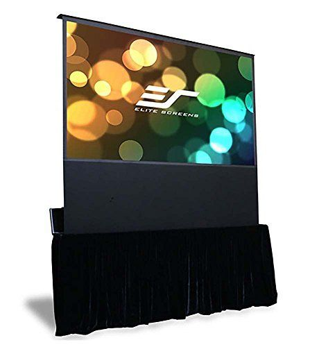 #Elite Screens Kestrel Stage Series is a large venue portable, free standing electric projector screen. Featuring Elite Screens MaxWhite Fiberglass-backed screen...