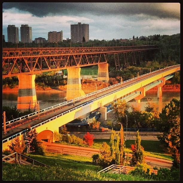 "@Donna colpitts's photo: ""#Edmonton bridges at dusk #yeg"""