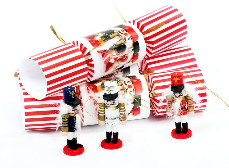 Nutcracker Christmas Crackers. www.elvesbest.ca