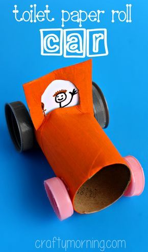 Simple Toilet Paper Roll Car Craft For Kids Craftymorning Com