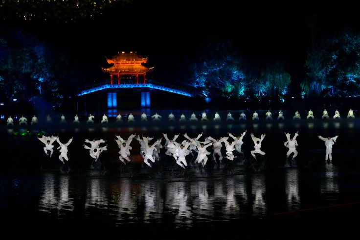 Performers at the evening gala of the G20 summit in Hangzhou, China, 2016.