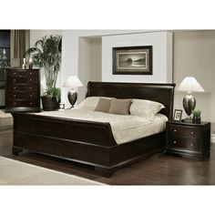 @Overstock.com - Abbyson Living Kingston 4-piece Espresso Sleigh King-size Bedroom Set - Enrich your home decor with this Kingston king-size Sleigh bedroom set. This set features solid oak wood construction and includes a king-size bed, two nightstands, and one chest.   http://www.overstock.com/Home-Garden/Abbyson-Living-Kingston-4-piece-Espresso-Sleigh-King-size-Bedroom-Set/6091955/product.html?CID=214117 $2,999.99