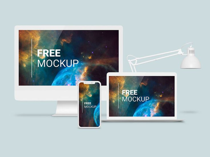 Elegant Psd Mockup Of Apple Devices In White Color Including Imac Iphone X And Macbook Pro All Objects Are On Separate Layers To Man Imac Macbook Pro Macbook