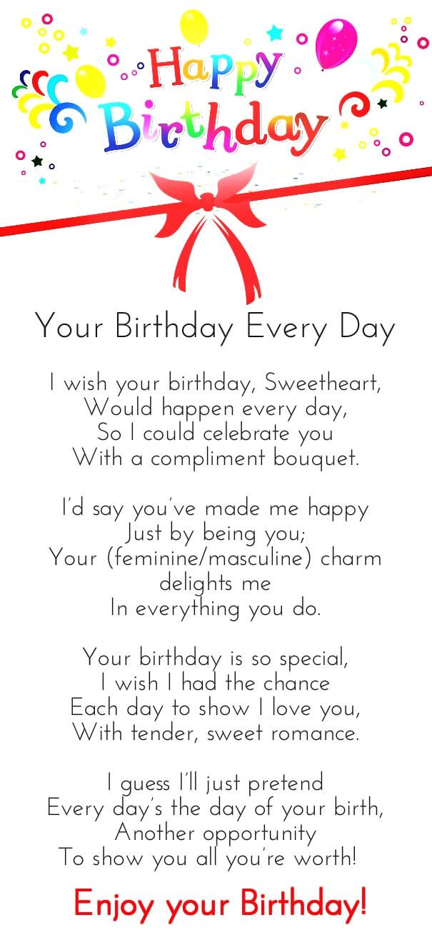 12 Happy Birthday Love Poems For Her Him With Images Happy