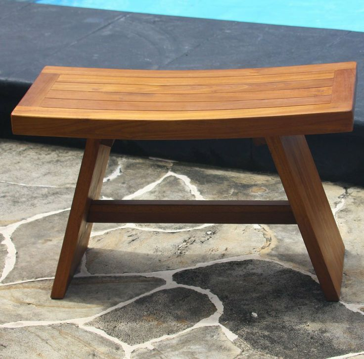 30 teak shower bench double size from the
