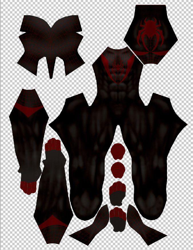 Spiderman costume pattern