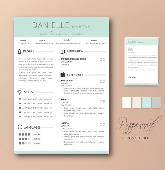 59 best ☆ Resume Templates for Word + Cover Letter images on - cover letter word templates