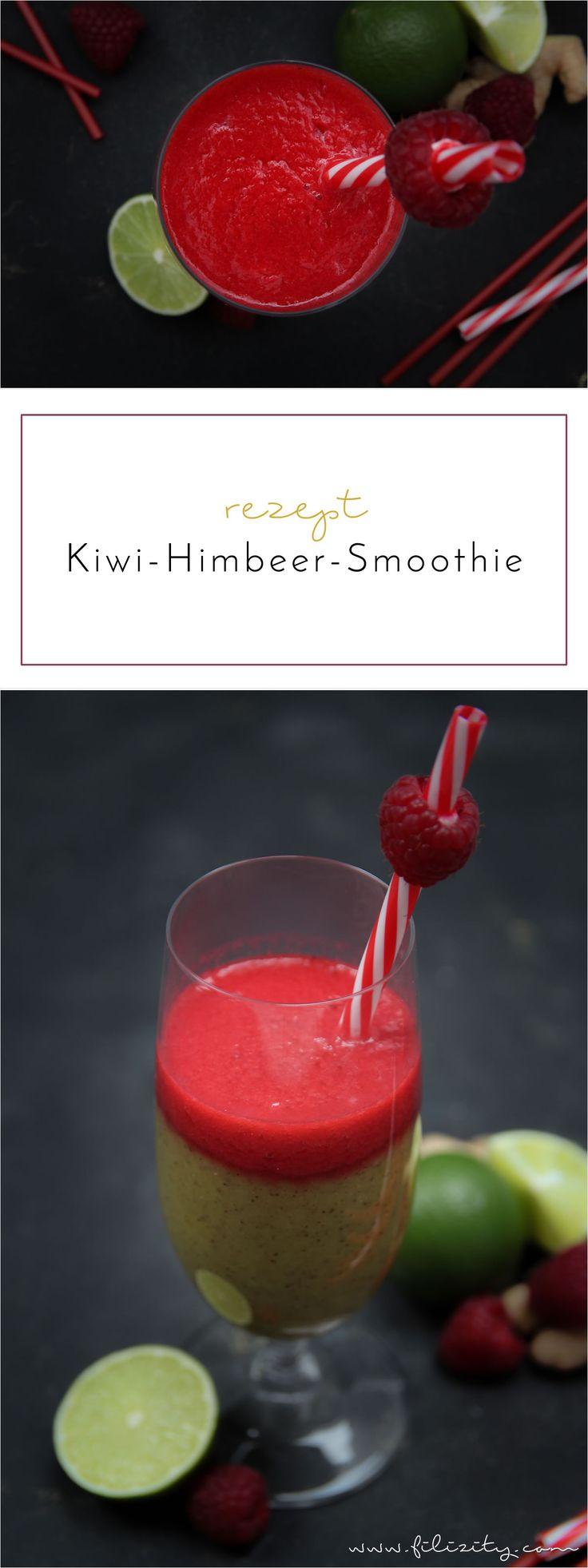 Rezept für Kiwi-Ananas-Himbeer-Smoothie mit Ingwer – Booster für das Immunsystem