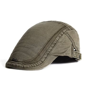 Only US$10.48 , shop  Mens Cotton Embroidery Painter Berets Caps Casual Outdoor Visor Forward Hat at Banggood.com. Buy fashion Hats & Caps online.