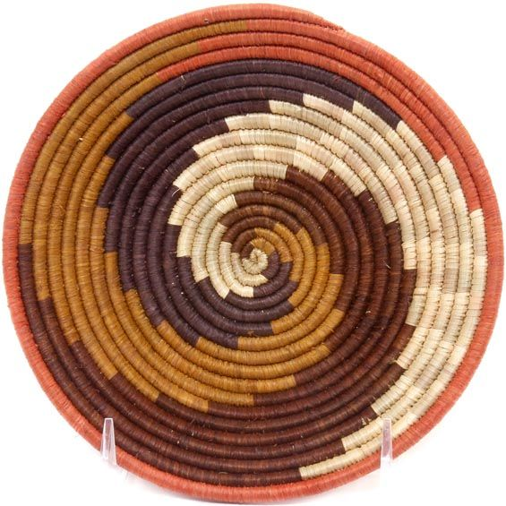 African Basket - Uganda - Rwenzori Bowl -  6.5 Inches Across - #49015