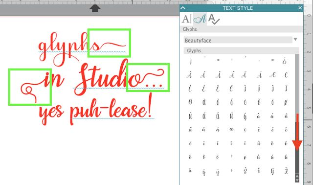 How to add swirls and special characters to fonts in Silhouette Studio