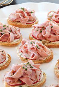 Benedictine Spread with Ham and Radishes