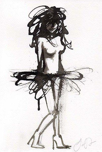 Illustration art, ink by Jacqueline tamm