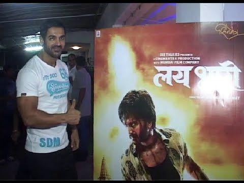 John Abraham @ screening of LAI BHAARI movie.