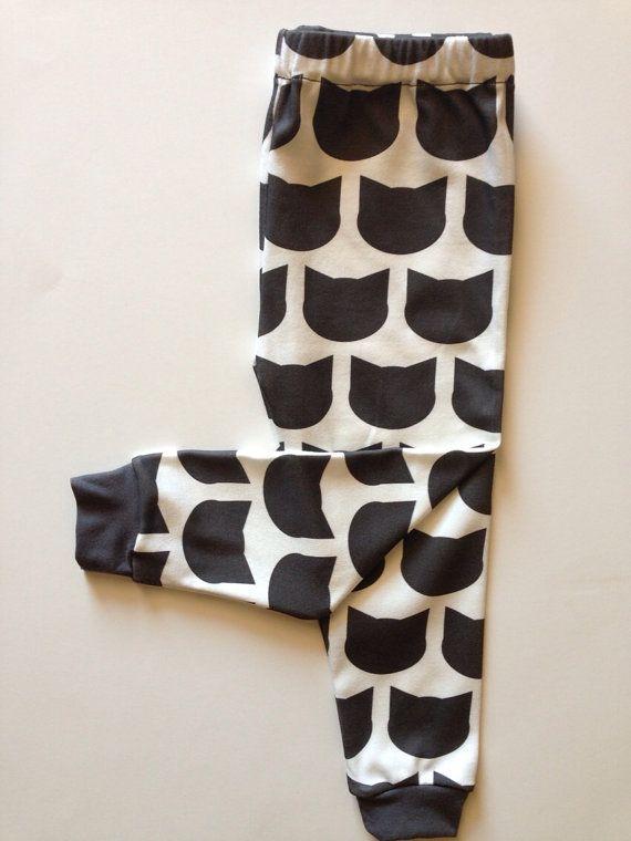 Unisex Kitty Cat Leggings Right Meow Handmade Organic by IndieNook, $28.00