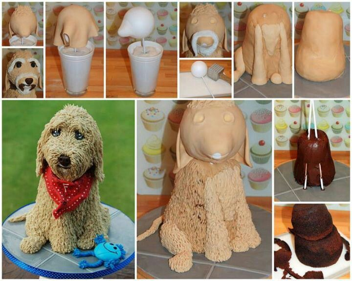 3d Cake Decorating Download : 3D dog cake bolos caes Pinterest Dog Cakes, Cake ...