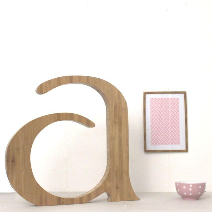 Lettre g ante a en bois massif d coration mariage for Accessoire de decoration maison